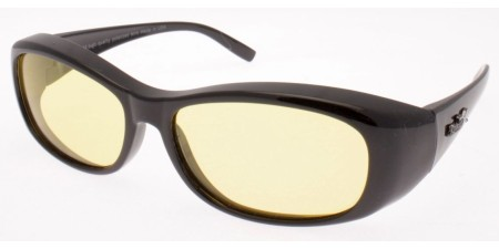 POL8002 Shiny Black - Yellow lenses  (212441)